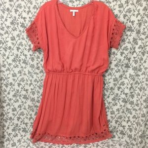 O'Neill Summer Orange Lace Trimmed Dress cute